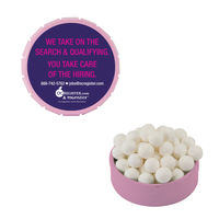 Small Pink Snap-Top Tin with Signature Peppermints