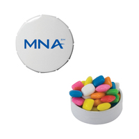 Small Snap-Top Tin with Chicle Chewing Gum