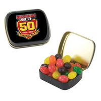 Small Black Candy Tin with Jelly Beans