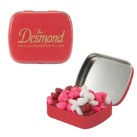 Small Red Tin with Candy Hearts