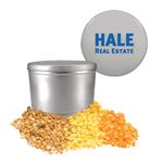Silver Two Gallon Popcorn Tin - Three Flavors
