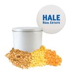 White Two Gallon Popcorn Tin - Three Flavors Popcorn