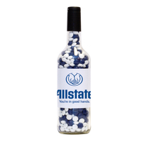 Wine Bottle with Corporate Color Chocolate Candy