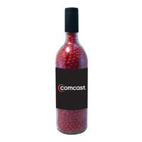 Wine Bottle with Cinnamon Red Hot Candy