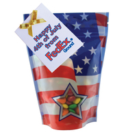 Large Window Bag with Compare to M&M(r) candy - Patriotic