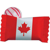 Individual Canadian Peppermint Stock Wrapped Candy