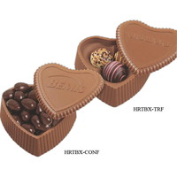Milk Chocolate Heart box with 3 filled assorted truffles