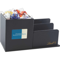 Leatherette Desk Organizer with Lindt Chocolate Balls