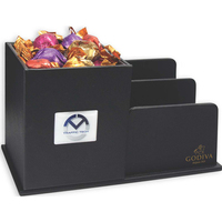 Leatherette Desk Organizer filled with Godiva Chocolates