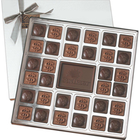 Custom Molded 32 Piece Chocolate Squares Gift Box