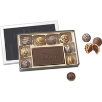Gift box filled with truffles and chocolate centerpiece