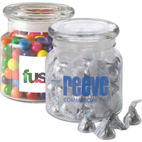 22 oz glass jar filled with Hershey's Chocolate Kisses®