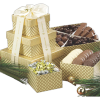 Chocolate Lovers Gift Tower w Assorted Chocolates and Nuts