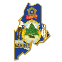 State - Maine State Shape Lapel Pin