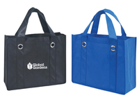 Non Woven Tote Bag with Fabric Covered Bottom