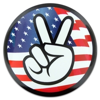 Peace Fingers Button
