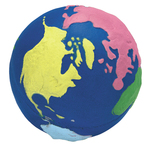 Squeezies (R) Multi-Color Earth Stress Reliever