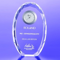 Award-Faceted Oval Clock