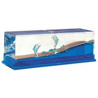 Liquid Wave Paperweight: Dolphin