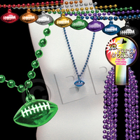 Beaded Necklace with Football Pendant