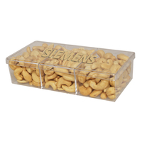 3way Acrylic Show Piece Container with Cashews Nuts