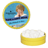 Snap-Top Mint Tin with Sugar-Free Mints - Breath Fresheners