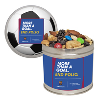 Half Quart Tin Containers with Trail Mix