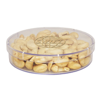 Large Round Acrylic Show Piece with Cashews - Nuts