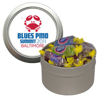 Silver Candy Window Tin with Jolly Ranchers