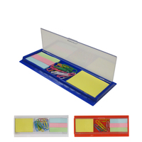 Ruler, Paper Clips, Sticky Notes Desk Accesorry