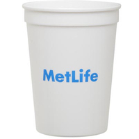 Smooth White 12 Ounce Plastic Stadium Cup