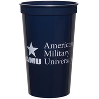 Smooth Colored 22 Ounce Stadium Cup