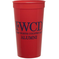 Smooth Colored 32 Ounce Stadium Cup