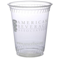 Eco-Friendly Compostable 7 Ounce Soft Sided Plastic Cup