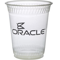 Eco-Friendly Compostable 12 Ounce Soft Sided Plastic Cup
