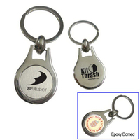 Round Metal Key Tag