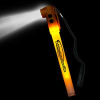 """Orange 8"""" Light-Up LED Glow Safety Stix"""