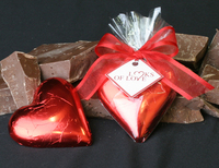 2 oz Solid Milk Chocolate Heart - Foil Wrapped