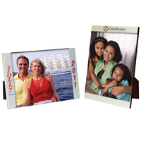 5 x 7 Three Piece Brushed Silver Clip Frame