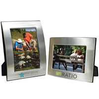 6 x 4 Silver Dual Hinged Curved Frame
