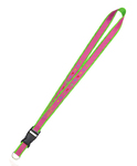 Neon Ribbon Custom Woven Lanyards