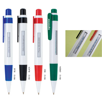 Polymer Ballpoint Window Message Pen w/ Click Action