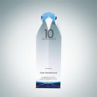 Virtue Tower Crystal Glass Award