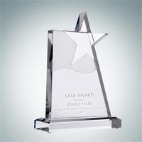 Waving Star Crystal Award