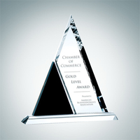 Crystal Glass Duet Triangle Award