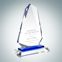 Crystal Glass Blue Inspiration Award
