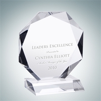 Crystal Glass Prestige Octagon Award