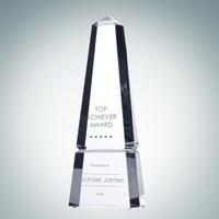 Crystal Glass Super Groove Obelisk Award