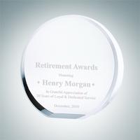 Crystal Glass Beveled Circle Award