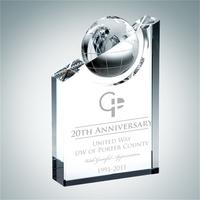 Crystal Glass World Globe Pinnacle